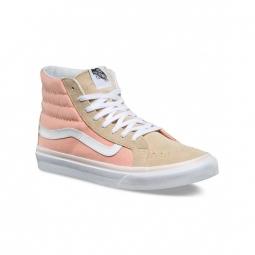chaussures vans u sk8 hi slim pale khaki true white52 36 1 2