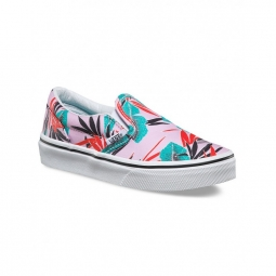chaussures vans u classic slip on tropical leaves pink lady 29