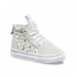chaussures vans t sk8 hi zip star glitter white 22