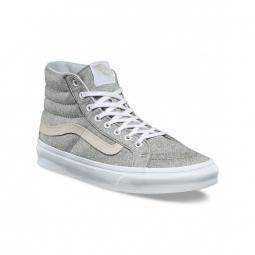 chaussures vans u sk8 hi slim j s frost gray true white 36 1 2