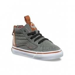 chaussures vans t sk8 hi zip mte castor grey 22