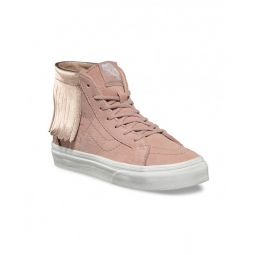 chaussures vans y sk8 hi moc metallic rose gold 29