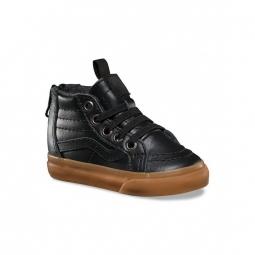 chaussures vans t sk8 hi mte black leather gum 22