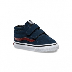 chaussures vans t sk8 mid reissue v suede dress blue