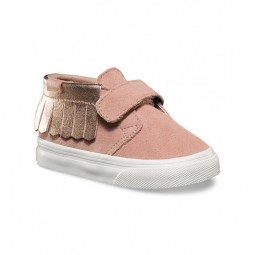 Chaussures vans t chukka v moc metallic rose gold 26