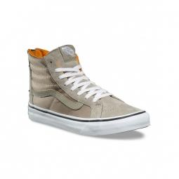 chaussures vans u sk8 hi slim zip boom boom silver true white 36 1 2
