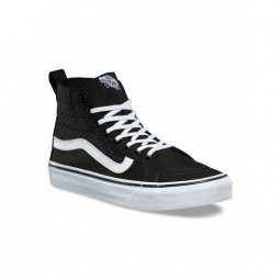 chaussures vans u sk8 hi slim gore checker gore black white 40