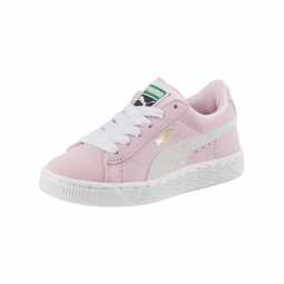 Chaussures puma suede ps pink lady white pt gold 31