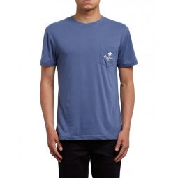 T shirt volcom last resort dd ss deep blue s