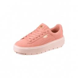 Chaussures puma w suede platform trace peach beige pearl 37