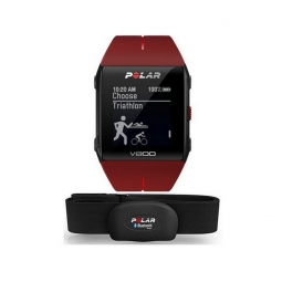 montre multisports gps polar v800 hr cardio rouge