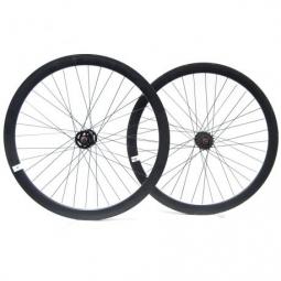 Paire de roue beretta fixie 43mm etanche noir