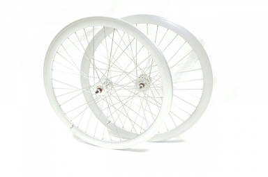 paire de roue beretta fixie 43mm etanche polish