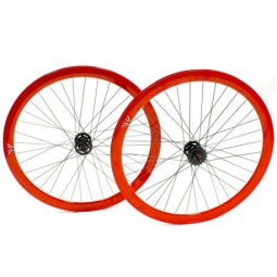 Paire de roue beretta fixie 43mm etanche red