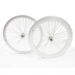 Paire de roue beretta fixie 43mm av 70mm ar etanche polish