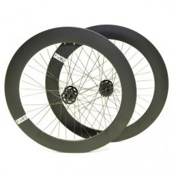 Paire de roue beretta fixie 70mm etanche noir