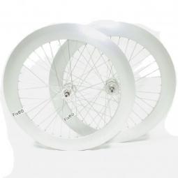Paire de roue beretta fixie 70mm etanche polish