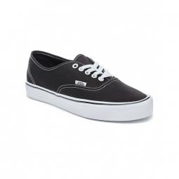 chaussures vans u authentic lite canvas black white 36 1 2