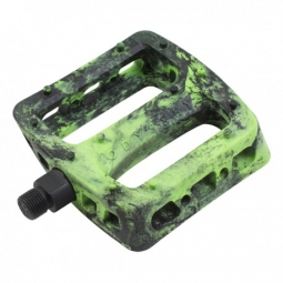 PEDALES ODYSSEY TWISTED PRO PC 9/16 BLACK / FLUO GREEN SWIRL