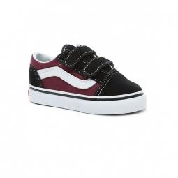 Chaussures vans t old skool v pop black og burgundy 19