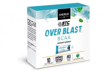 10 Gels Énergétiques STC Nutrition Over Blast BCAA Menthe Fraîche