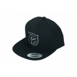 casquette federal embroidered logo snapback black white