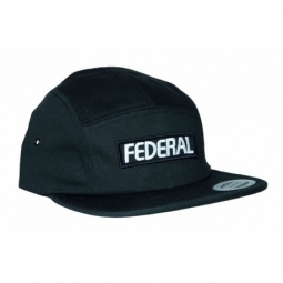 casquette federal patch logo 5 panel black