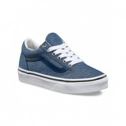 Chaussures vans y old skool c l chambray blue 32