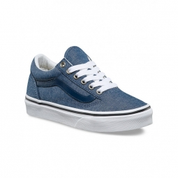 Chaussures vans y old skool c l chambray blue 31