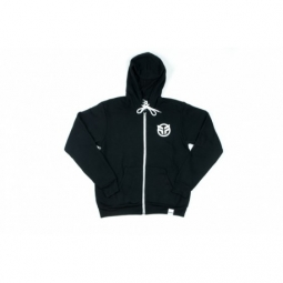 SWEAT FEDERAL LOGOZIP HOOD BLACK TAILLE XL