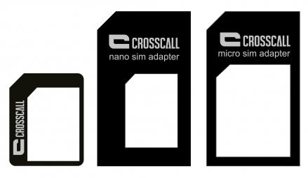 crosscall adaptateur carte sim nano micro mini