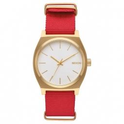 montres nixon time teller gold white red