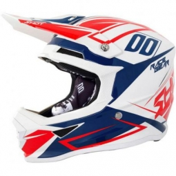 Casque integral shot furious blanc rouge m 57 58 cm