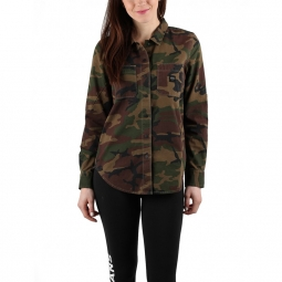 chemise vans w assembly woven camo xs