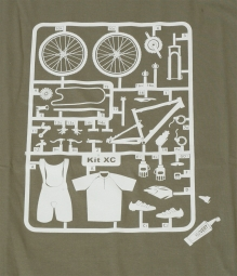 T shirt velovert maquette xc s