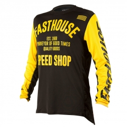 Maillot Manches Longues Fasthouse Classic Jaune Noir