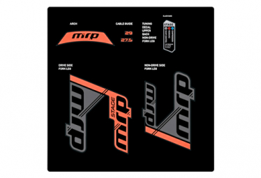 Stickers replacement Kit for MRP stage Forks Red