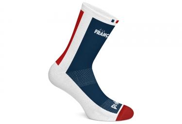 Paire de chaussettes pi ik a la francaise bleu blanc rouge