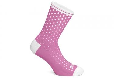 Paire de chaussettes pi ik pink dot rose