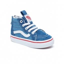 chaussures vans t sk8 hi zip denim 2 tone sk8 hi zip blue true white 22
