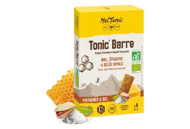 5 Barres énergétiques Meltonic Tonic BIO Pistache Sel Bio 5x25g