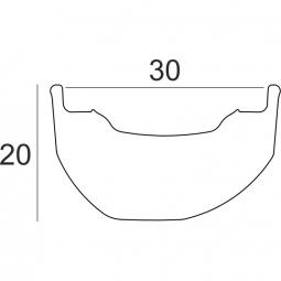 Jante Enduro HxR Components Asymétrique 27,5 32 trous