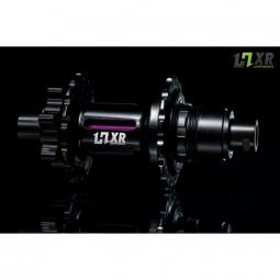 moyeu arriere 2en1 easy shift hxr components sram 142x12 et 148x12mm 32 trous violet