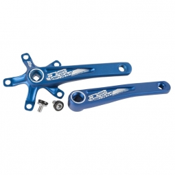 Manivelles insight axe carre bleu 130