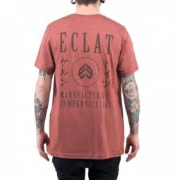 Tee shirt eclat circle icon heather clay xl