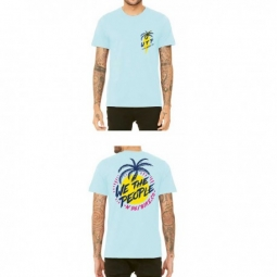 TEE SHIRT WETHEPEOPLE MIAMI ICE BLUE WTP X FLUOR COLLAB
