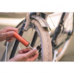 Mini pompe vélo Moonride Rouge