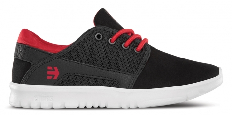 Etnies kids scout black red black 32 1 2