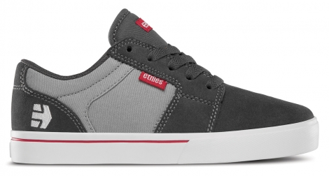 Etnies kids barge ls dark grey grey red 35