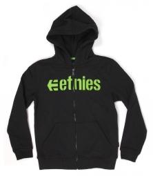Etnies corporate zip fleece yth black green m